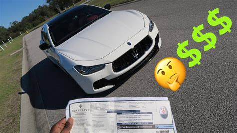 How Much Did My 2016 Maserati Ghibli S Cost?