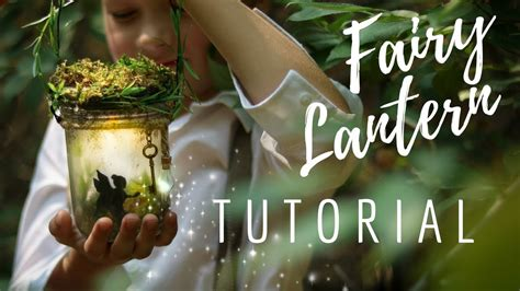 diy fairy night light fairy lantern glow jar youtube