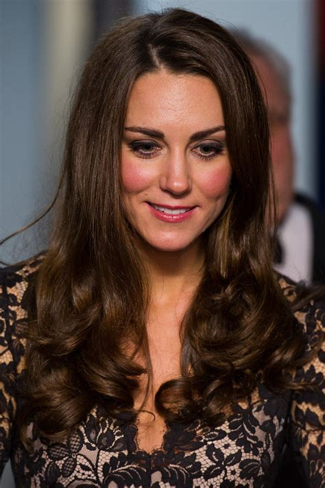 Kate Middleton?s glossy curly locks   celebrity hair and