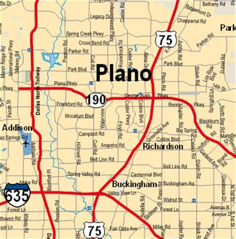 plano texas map