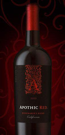 wine review apothic red  winemakers blend californian