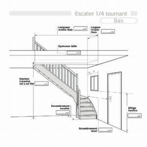 Escalier Quart Tournant Bas : sch mas escaliers flin ~ Dailycaller-alerts.com Idées de Décoration