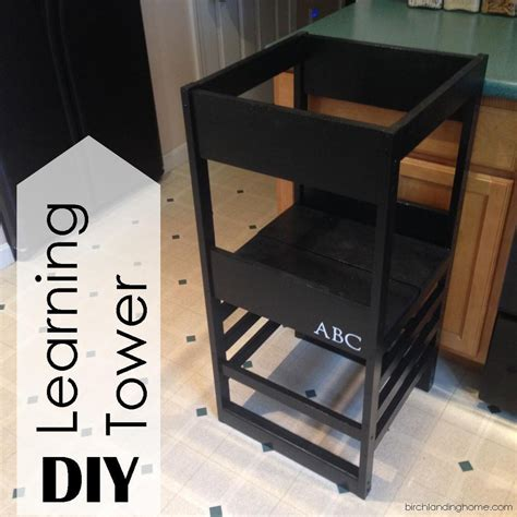 diy learning tower based  plans  ana white learning