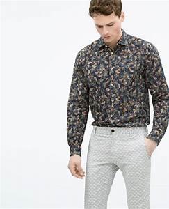 Chemise Col Mao Jules : zara homme chemise imprim e ready to wear men 2015 ~ Farleysfitness.com Idées de Décoration