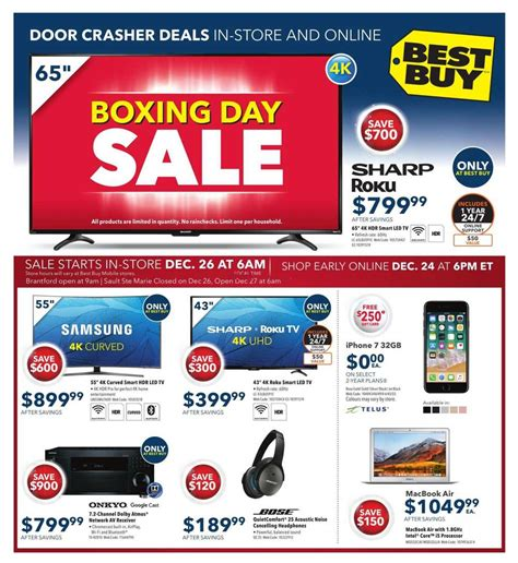 Best Buy Boxing Day Sale Flyer December 24 to 28, 2017
