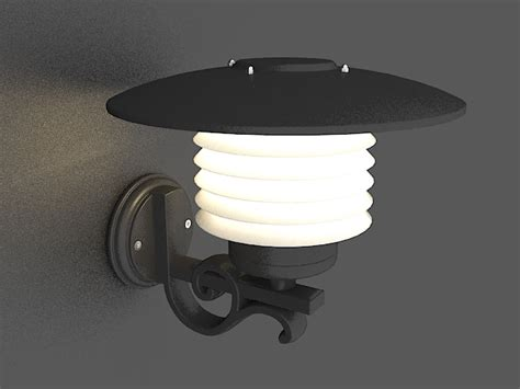 outdoor wall sconce lighting 3d model 3ds max files free