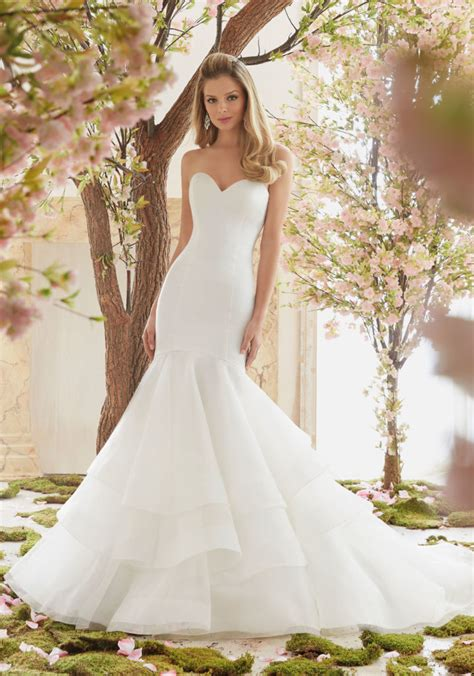 Wedding Dresses by Extravagant Duchess Satin And Organza Wedding Dress