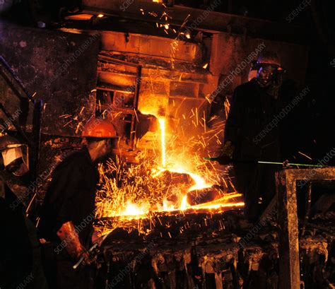 Iron foundry - Stock Image - T810/0232 - Science Photo Library