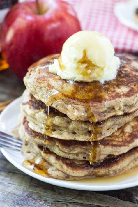 apple pancakes  brown sugar cinnamon   tasty