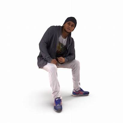 Sitting 3d Models Person Character Poly Low