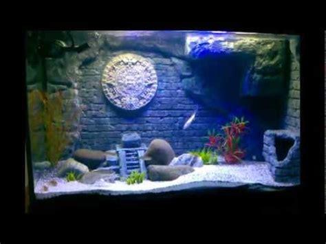 diy aztec mayan themed  aquarium update   month