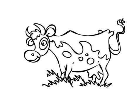 ausmalbild tiere gefleckte kuh kostenlos ausdrucken