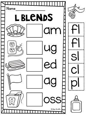 l blends worksheets and activities blends worksheets first grade phonics phonemic awareness
