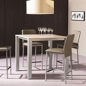 Table Cuisine Carrée : table snack de cuisine carr e en m lamin et m tal costa 4 ~ Teatrodelosmanantiales.com Idées de Décoration