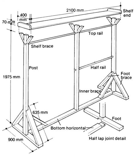 build  clothes rack  wood google search