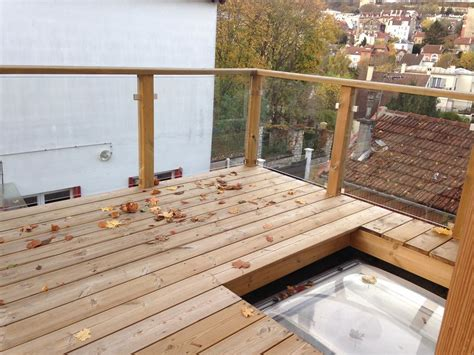cuisines meubles terrasse bois et balustrade verre roland pons ebeniste