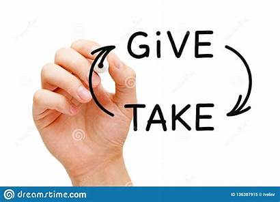 Give Take Compromise Charity Concept Hand Board