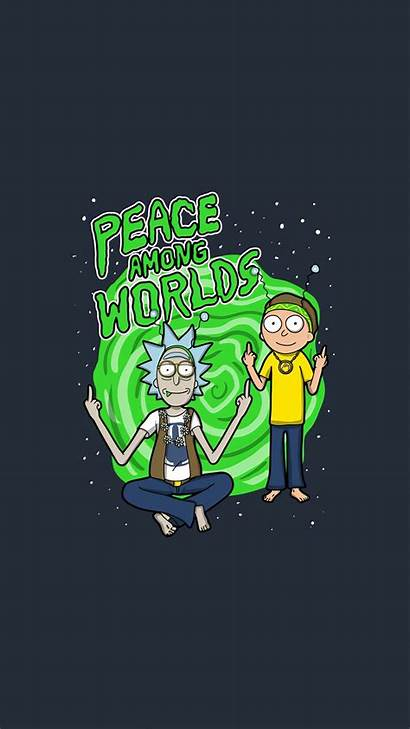 Peace Among Rick Morty Iphone Worlds Words