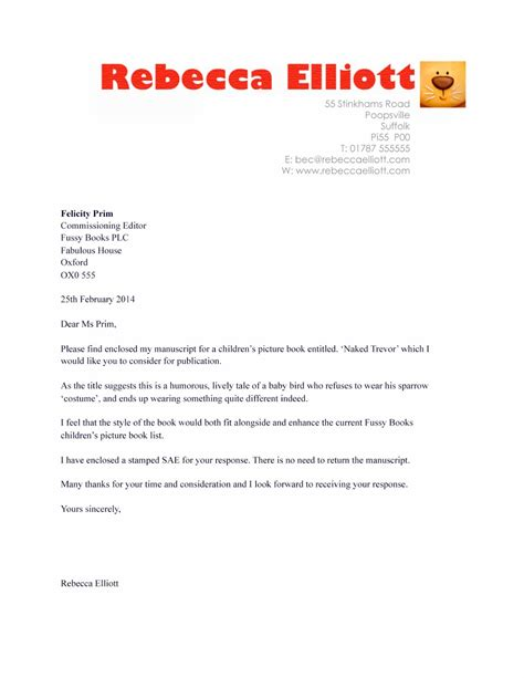 Cover Letter For Book children s books manuscripts and publishing requirements