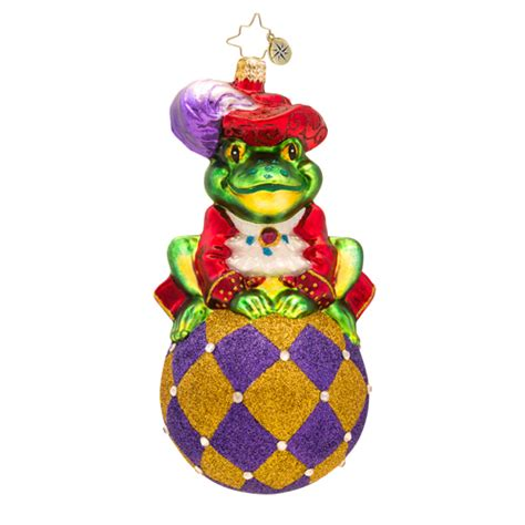 christopher radko prince ribbit frog ornament