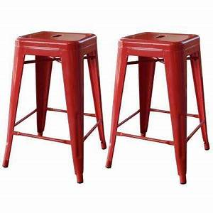 Red - Backless - Bar Stools - Kitchen & Dining Room