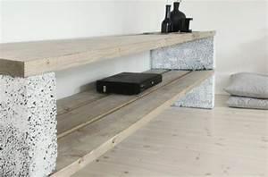 Tv Tisch Selber Bauen : betonbl cke f r tolle diy m bel in 2019 sitzbank diy ~ Watch28wear.com Haus und Dekorationen