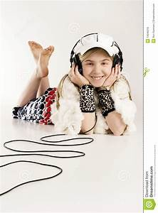 Listening To Music With Earphones Royalty Free Stock Image ...