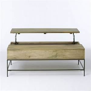 Rustic storage coffee table contemporary coffee tables for West elm rustic storage coffee table