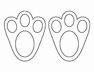 Easter bunny paw print pattern use the printable outline for Bunny feet template printable