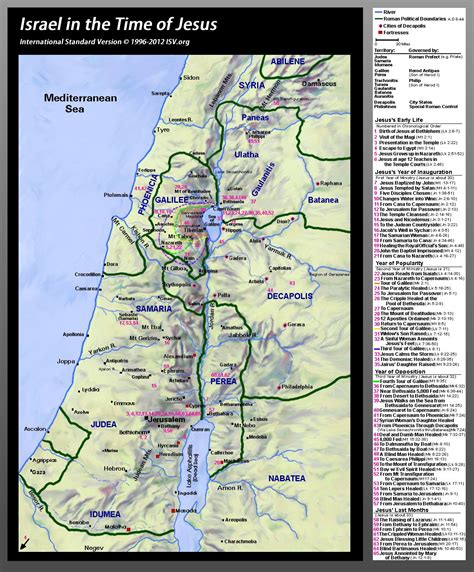 map  israel   time  jesus showing