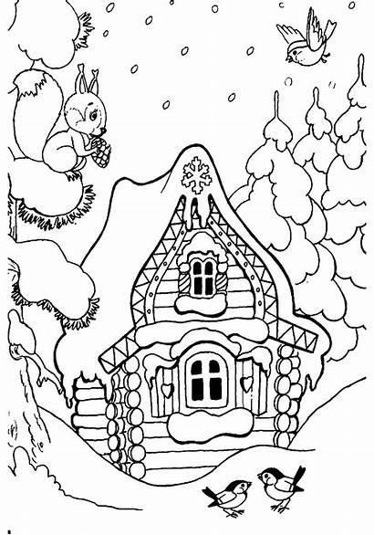 Coloring Winter Forest Coloringtop