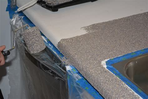 can you paint countertops with regular paint kitchen countertop refinishing kits armor garage