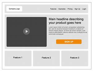 Home Page Wireframe Template