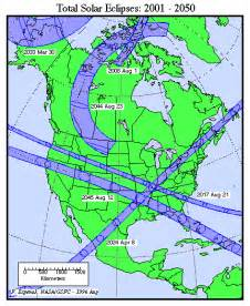 2017 Total Solar Eclipse North America Map