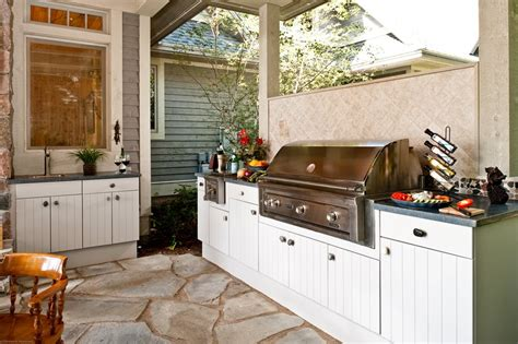 Outdoor Kitchen Cupboards by Outdoor Kitchen Cabinets Landscaping Network