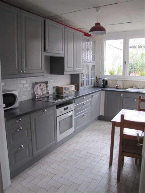 ikea cuisine grise cuisine grise ikea photo avec impressionnant cuisine grise