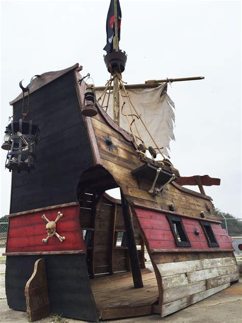 ahoy  mateys   pirate ship playhouse