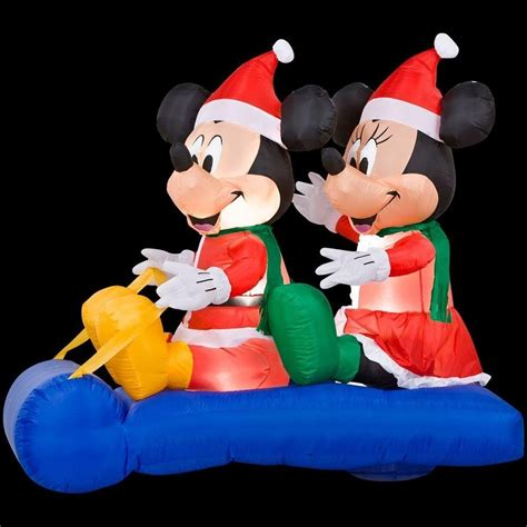 inflable iluminable de navidad mickey  minnie mouse