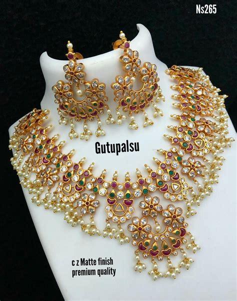 Matte Finish Gutta Pusalu Online - Indian Jewelry Designs