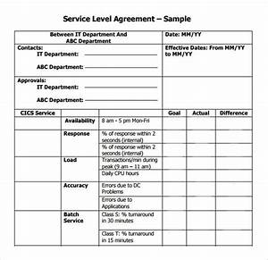 14 free sample service level agreement templates sample With ola document template