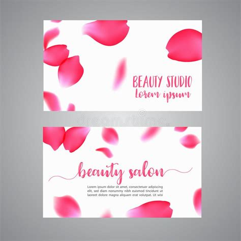 vector business card template  rose petals floral
