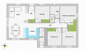 Plan Maison U : plan maison contemporaine plain pied unique plans de ~ Dallasstarsshop.com Idées de Décoration