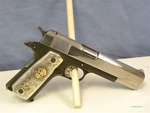 Colt 1911 Custom  38 Super W   Silver Grips For Sale