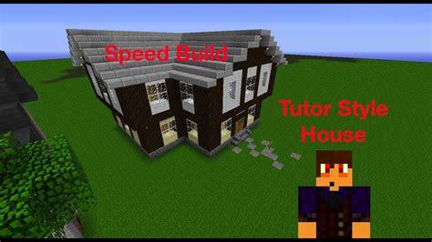 minecraft tudor house speed build youtube