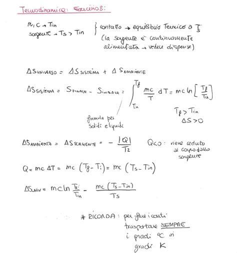 termodinamica dispense fisica 1 termodinamica esercizio 8 la matepratica