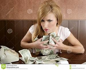 Greed Money Retro Woman Office Vintage Accountant Stock ...