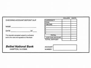 checking account lesson With checking deposit slip template
