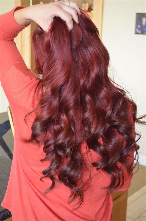 Red Hair With Brown Ombre Tips Gina Gab Solórzano Huff