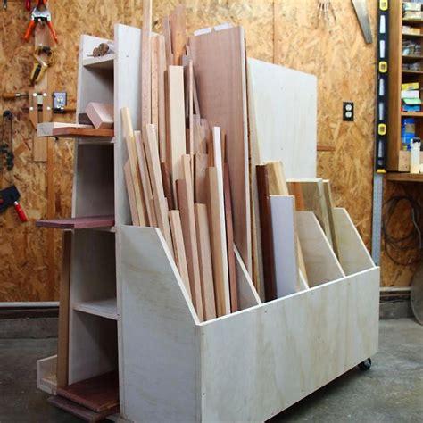 lumber storage cart woodworking plan  woodworking