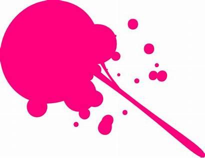 Neon Splat Pink Clipart Clip Vector Cliparts